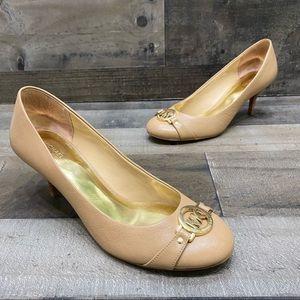 Michael Kors Womens Tan Leather Classic Heels 8.5